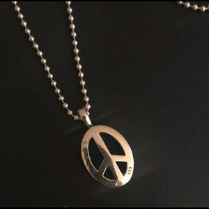 Lagos peace pendant necklace